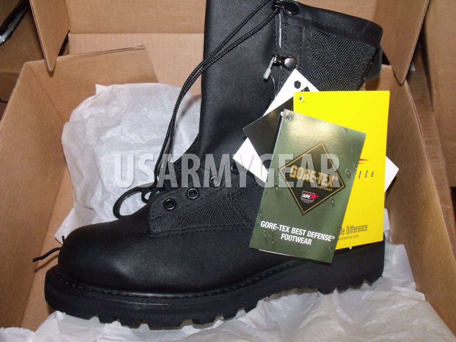 USA Made Belleville Army GORETEX Military Black Leather Waterproof Combat Boots