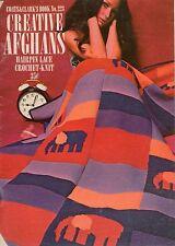 Coats Clark 223 Creative Afghans Crochet Knit Hairpin Lace Patterns Flower 1971