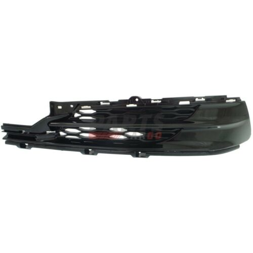 NEW BUMPER GRILLE PAINTED BLACK FRONT LEFT FITS 2015-2017 ACURA TLX 71107TZ3A10