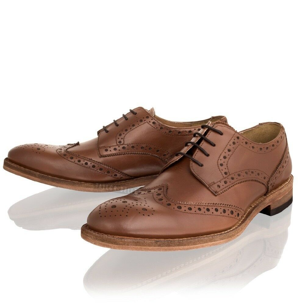 Herren Brogue Sole Goodyear Welted Leder Sole Brogue Lace up Smart Formal Office Schuhes Größe 9526e0