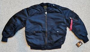 Details about ALPHA L2AL2B FLIGHT JACKET REPLICA BLUE SIZE 36 LAST ONE
