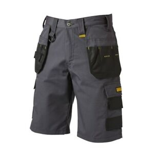 c07e743ffb Image is loading DeWALT-Cheverley-Cargo-Shorts -Pants-Workwear-Construction-Grey-