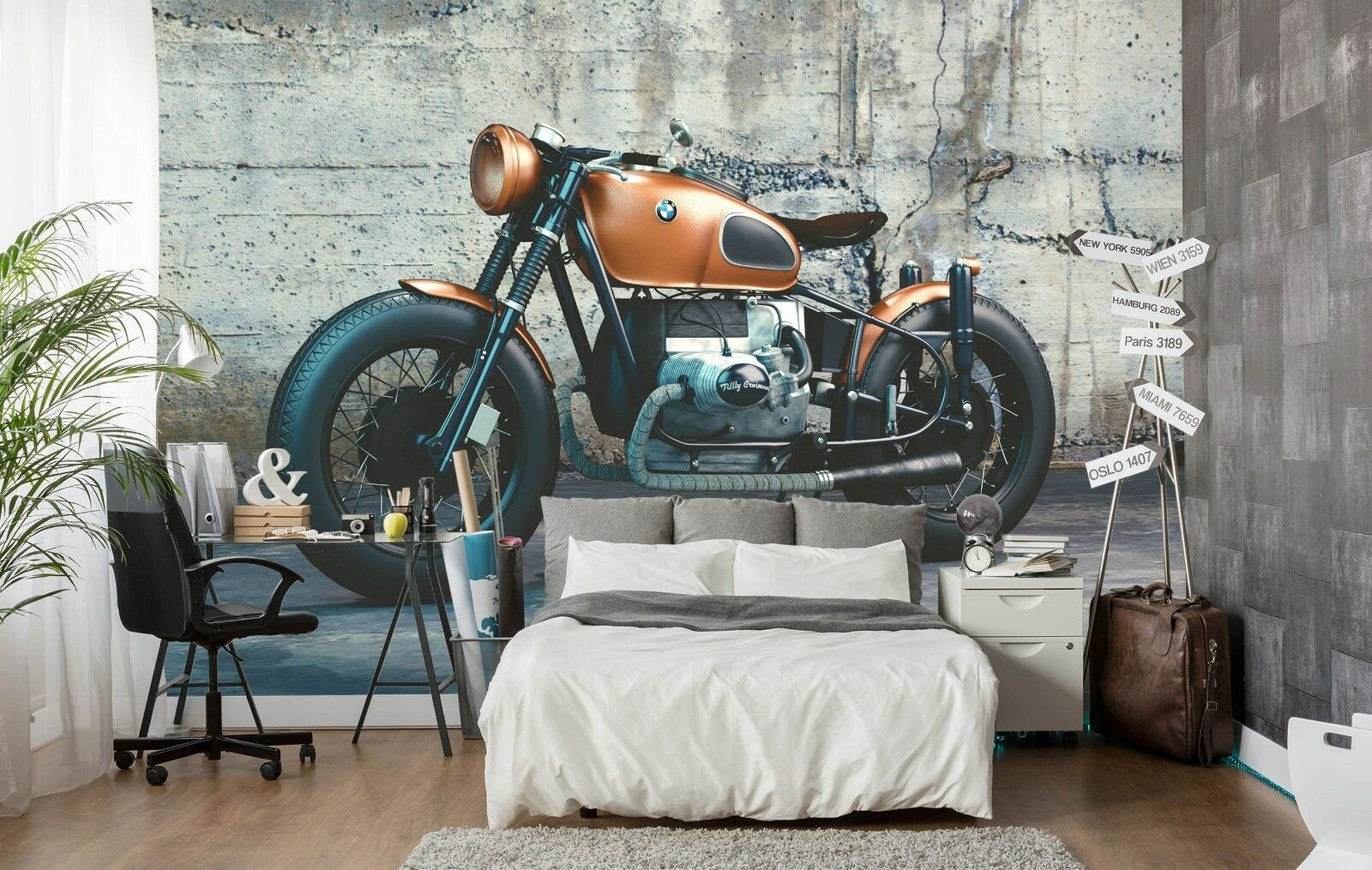 3D Motorcycle 952 Wall Paper Exclusive MXY Wallpaper Mural Decal Indoor Wall AJ