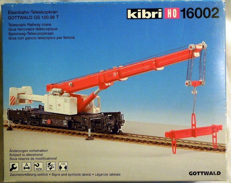 Kibri 16002  Gottwald GS 100.06 T RAILWAY TELESCOPIC CRANE, H0, N E U & O V P