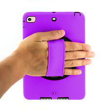 Purple Heavy Duty Shockproof Cover Stand Strap For Apple iPad Mini 2 3 1 Case