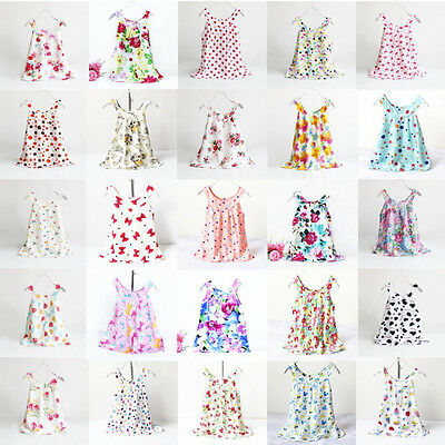 Baby Kids Girls Dress Toddler Princess Party Tutu Summer Floral Dress Cute