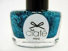1 Ciate Mini Nail Polish YULE RULES -PPM403 BRIGHT BLUE GLITTER POLISH