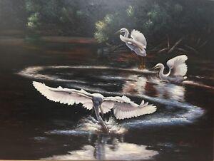"Fine Art Original Oil Painting On Canvas Impressionist  30"" x 40"" Signed"