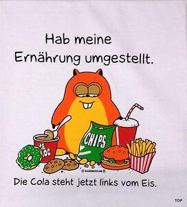 T-Shirt-Rahmenlos-Spruch-034-Hab-meine-Ernaehrung-034-Groesse-M-Baumwolle-Kurzarm