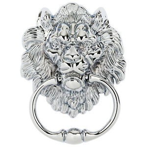 Hartleys-Chrome-Drop-Pull-Ring-Lion-Head-Dining-Chair-Furniture-Knocker-Handle
