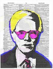 Art N Words Andy Warhol Colors Original Dictionary Page Pop Art Print