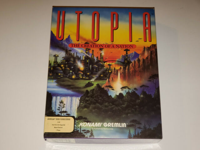 Utopia The Creation of a Nation (Amiga, 1991) Rare, Vintage Game