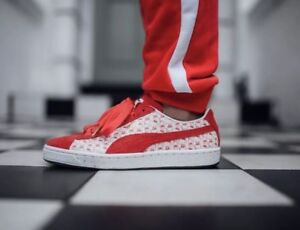 c4d61e7ee NEW Puma Suede Classic X Hello Kitty Anniversary Red Suede Sneakers ...