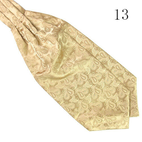 LC/_ homme classique satin soyeux Banquet Mariage Cravate Ascot en