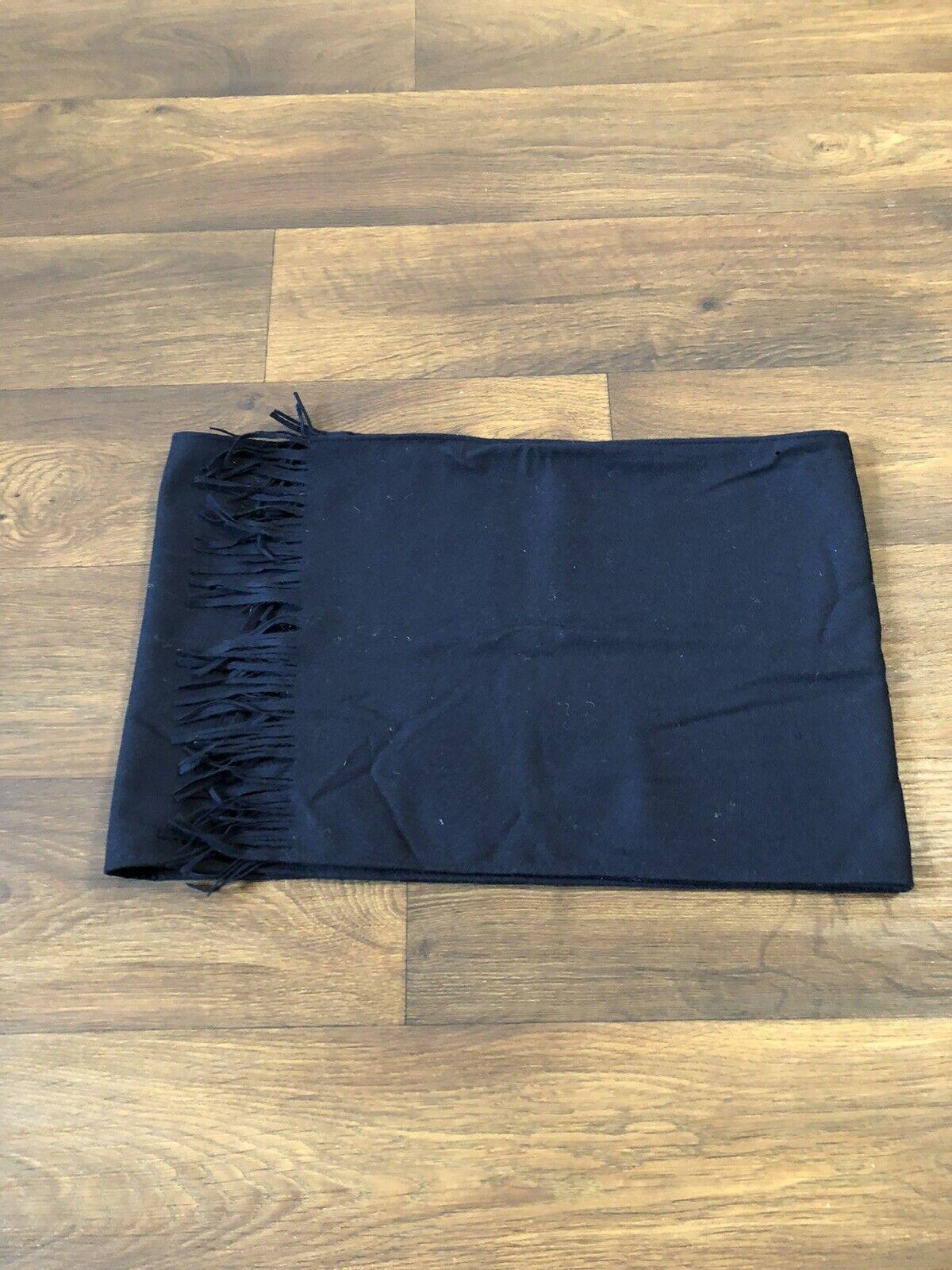 Mens Navy Pendleton Wool Scarf - image 2