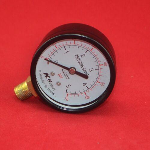 """2.5/"""" 60mm brass  pressure gauge 0-5 bar manometer,5kg//cm2 PT1//4/""""  thread 70psi"""