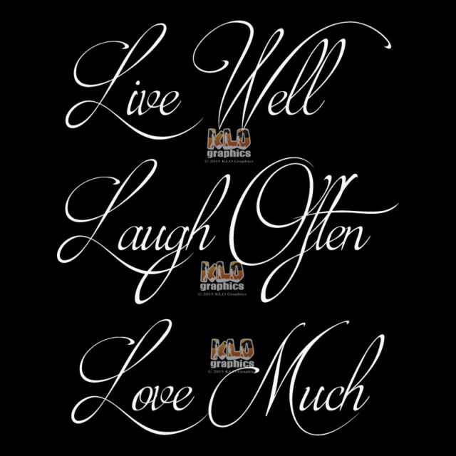 Love Much Vinyl Wall Decal removable art home decor L043 Laugh Often Live Well