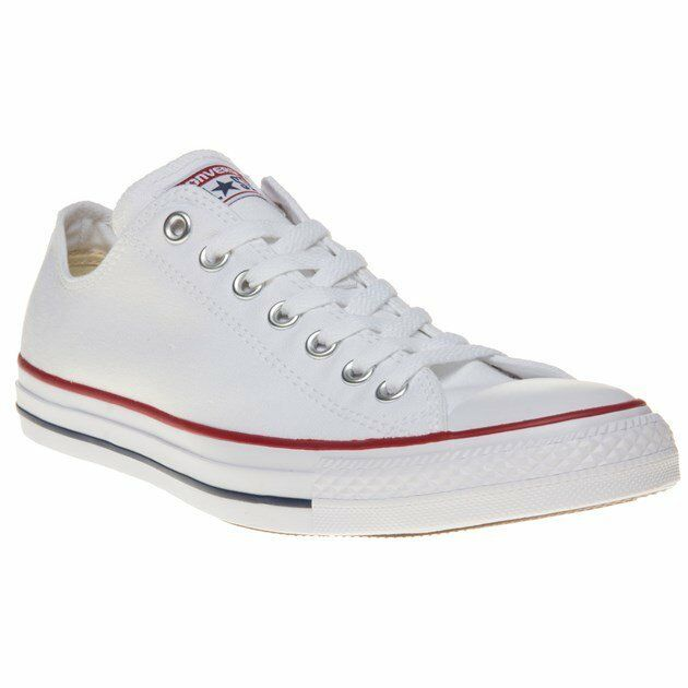Mens Converse White All Star Ox Canvas Sneakers Lace Up