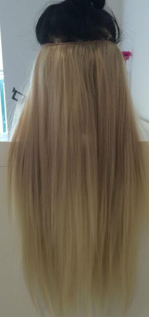 Dip Dye Ombre Hair Extensions 20 130g Ash Blonde Blonde Full Head