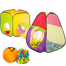 Tente cubique pour enfants avec tunnel Tente de jeu + 200 balles + sac