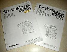 Panasonic AJ-D90 DVCPro50 Dockable Camera Deck Service Manual Vol 1&2 - Original