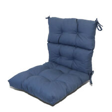 """3"""" Thick Patio Garden Dining Seat/Back Chair Cushion Seat Pad Pillow Navy Blue"""