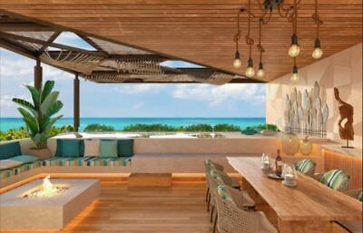 Departamento con vista al mar desde terraza lounge a la venta en Cozumel