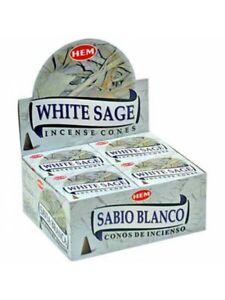Genuine-Hem-White-Sage-Incense-Cones-Bulk-Lot-12-Pack-of-10-Cone-120-Total