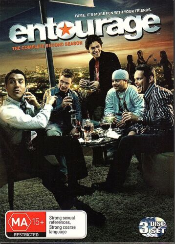 1 of 1 - ENTOURAGE - DVD R4 The Complete Second Season - 3-disc set - LIKE NEW  FREE POST