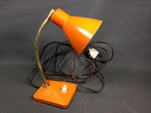 Old Small Desk Lamp To Ask Or Wall Vintage Orange 1950 Years Ebay