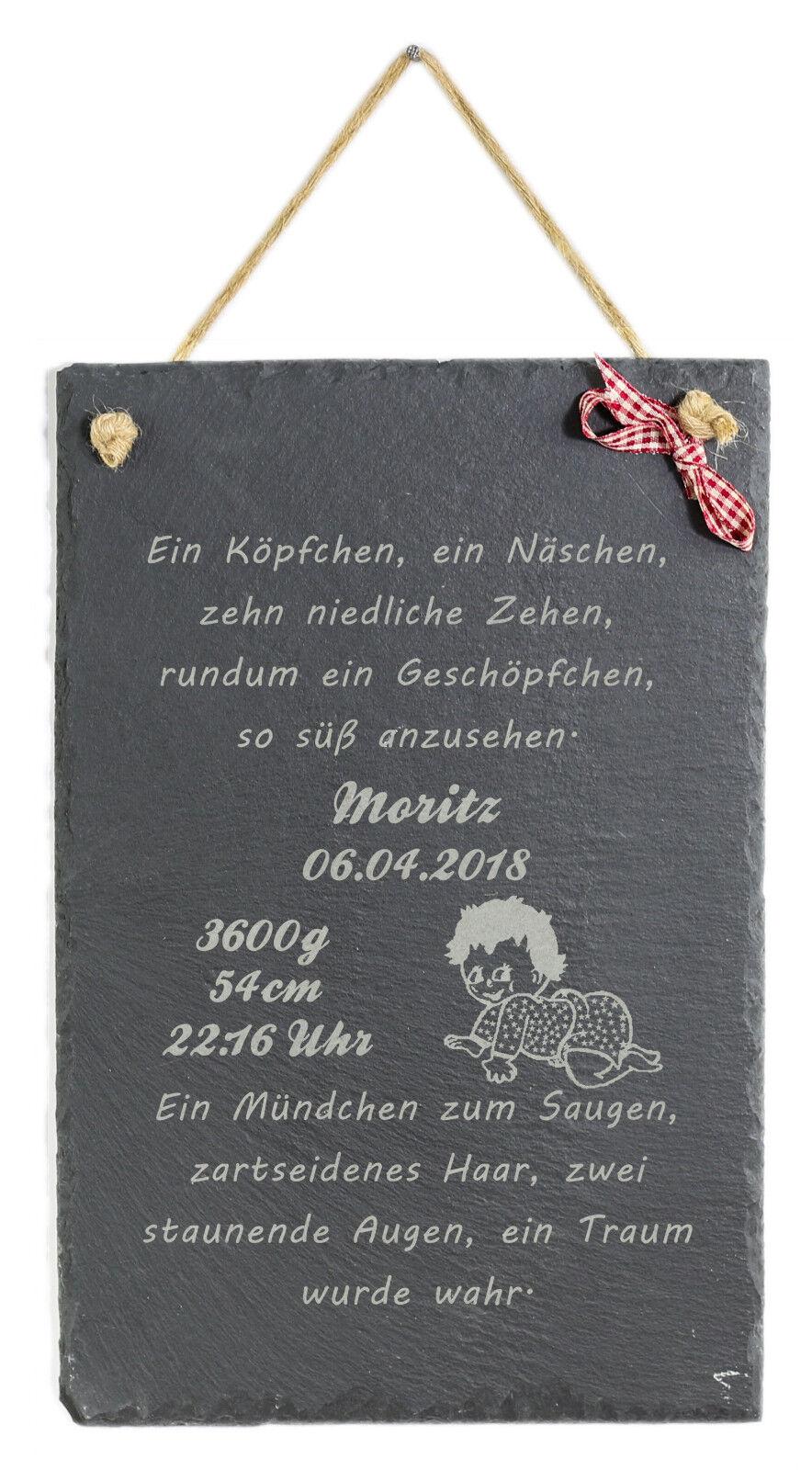 Schild Zur Geburt M Wunschnamen Baby Witzige Schiefertafel Taufe Geschenk Deko Ebay