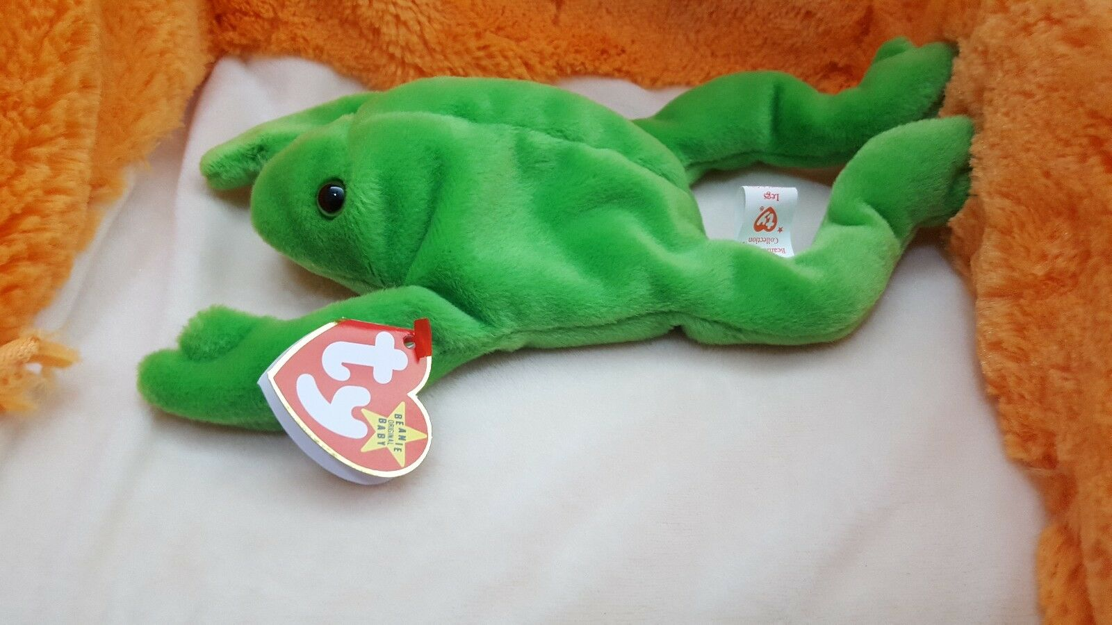 TY TY TY Beanie Baby Legs the Frog style 4020 with ERRORS VERY RARE style 4020 4-23-93 96ea44
