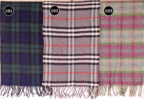 TARTAN SCARF Soft Touch Plaid Check Shawl Acrylic Wool Woollen Scotland 101-103