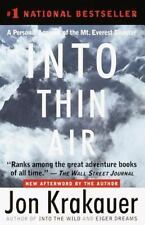 Into Thin Air : A Personal Account of the Mt. Everest Disaster by Jon Krakauer (1999, Paperback)