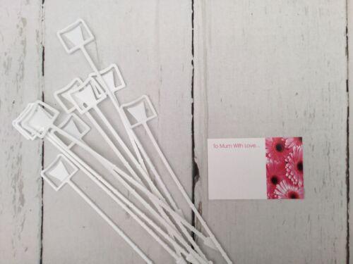 Floristry rosa loto/'s a mamá con amor /'Tarjetas X 10 y 10 Titulares de Tarjetas de Blanco