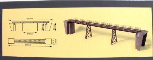 Auhagen 11430 pendelpfeilerbrücke una sola vía 66cm largo rastro h0 artículo nuevo con embalaje original