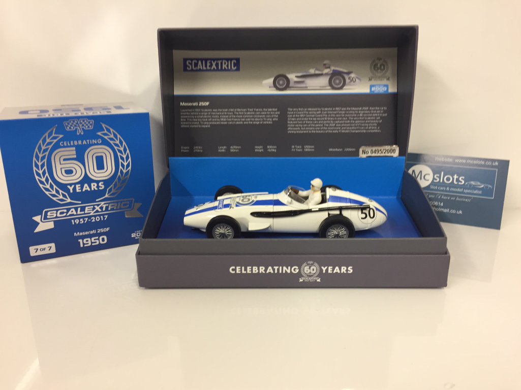 Heng Ai Yao Noël, coeur vraiHommes t chaud Scalextric Scalextric Scalextric C3825A 60ème Edition Anniversaire Maserati 250F nouveau emballé b67465
