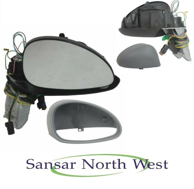 Seat Toledo Drivers Door Mirror Electric Heated Black Textured RIGHT O//S 12/>16