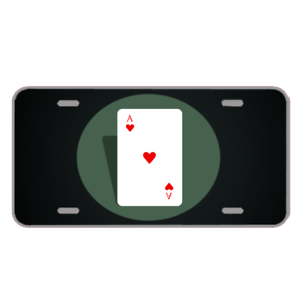 Custom-License-Plate-With-Poker-Card-Ace-Of-Hearts