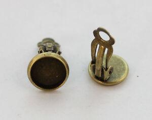 30PCS-Antiqued-bronze-10mm-Cabochon-Settings-Clip-on-Earrings-22960