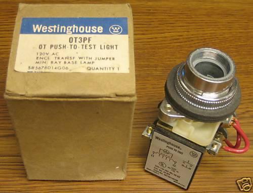 Westinghouse OT3PF Push-To-Test Light 120V