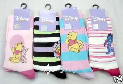 4 Pairs Ladies/girls Disney Winnie And Friends Knee High Socks 4-5½ In Den Spezifikationen VervollstäNdigen
