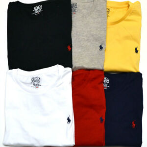 Polo ralph lauren custom fit t shirt crew neck mens tees t for Polo custom fit t shirts