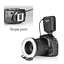 miniatura 6 - Meike FC-100 FC100 Manual LED Macro Ring Flash Light with 7 Adapter Ring for Can
