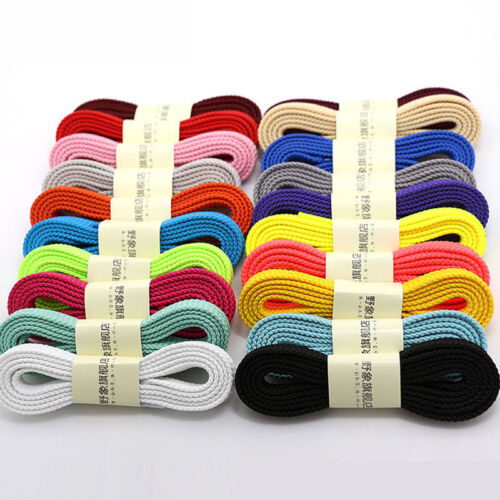 Thick Flat Fat Shoe Laces Wide Shoelaces For All Shoe Types Trainer Boot Shoes