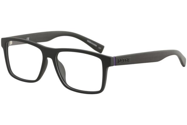 815b30691a Lacoste Mens Eyeglasses L2796 L 2796 001 Matte Black Full Rim Optical Frame  55mm