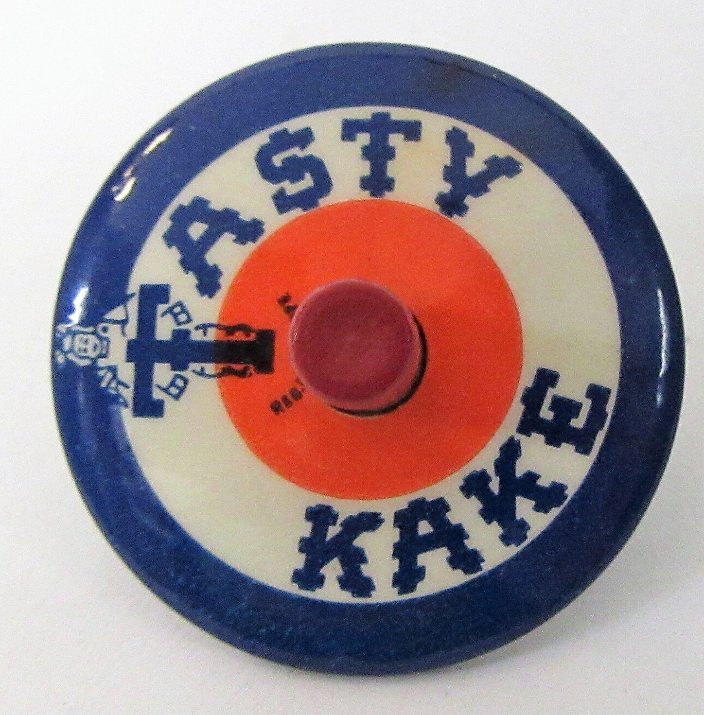 1930's TASTY KAKE celluloid Finger SPIN TOP ^