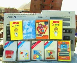 Vintage-Computer-Sakhr-MSX-AX170-With-9-Tapes-Of-Rare-Games-3