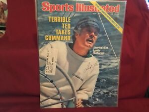 TED TURNER SIGNED 1977 SPORTS ILLUSTRATED/CATAIN OUTRAGEOUS,BRAVES OWNER 76-07