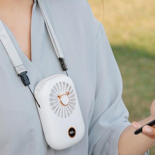 Portable Personal Fan USB Handsfree Wearable Neck Fan Quiet Tabletop Fan